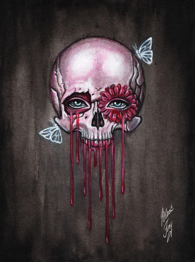 pink skull by BlackFurya on DeviantArt