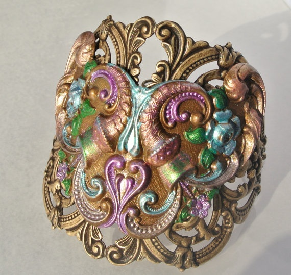 Victorian Style cuff by HowlingDogJewelry on Etsy, $38.00