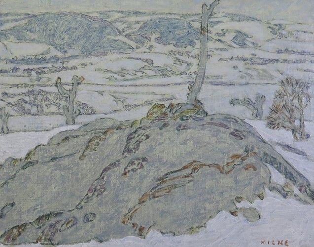 "David Milne The Orchard, Mount Riga, 1922-3 Oil on canvas 16"" x 20"""