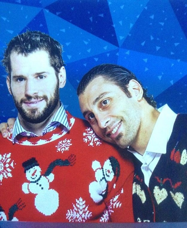 Who aren't afraid to express their softer side. | 24 Reasons Why Hockey Players Are Actually Big, Cuddly Sweethearts
