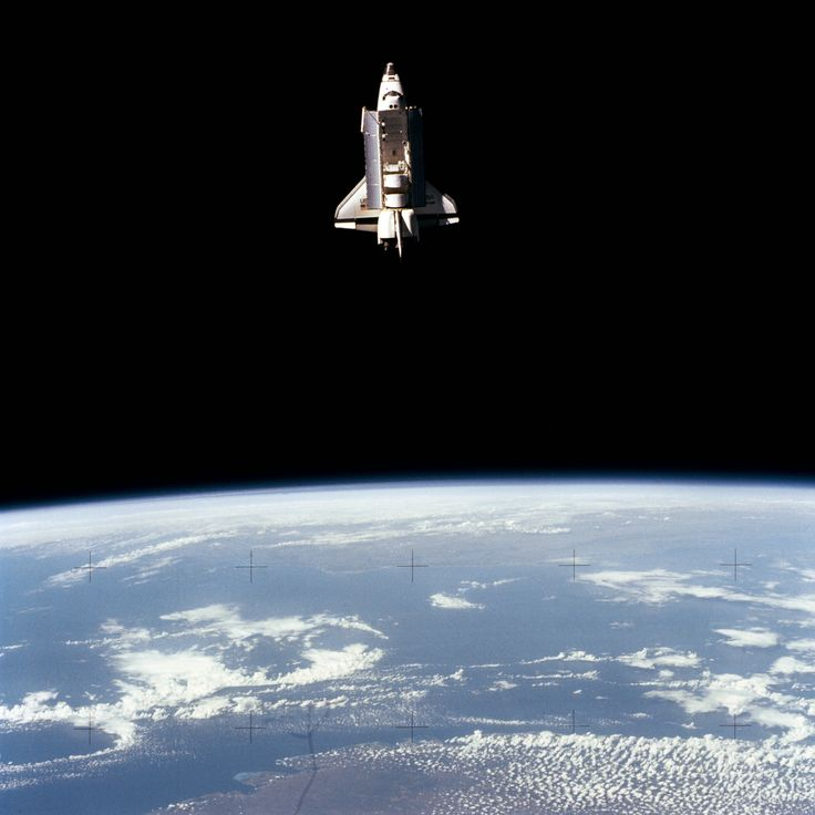 "spaceexp: "" STS-7 Shuttle Challenger Viewed From SPAS-1 Satellite 1983 """