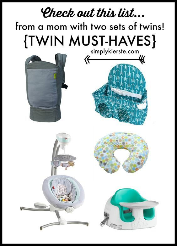 Expecting twins? Check out this list of twin must-haves from a mom of two sets of twins!  Lots of favorite baby items to make life a little easier!