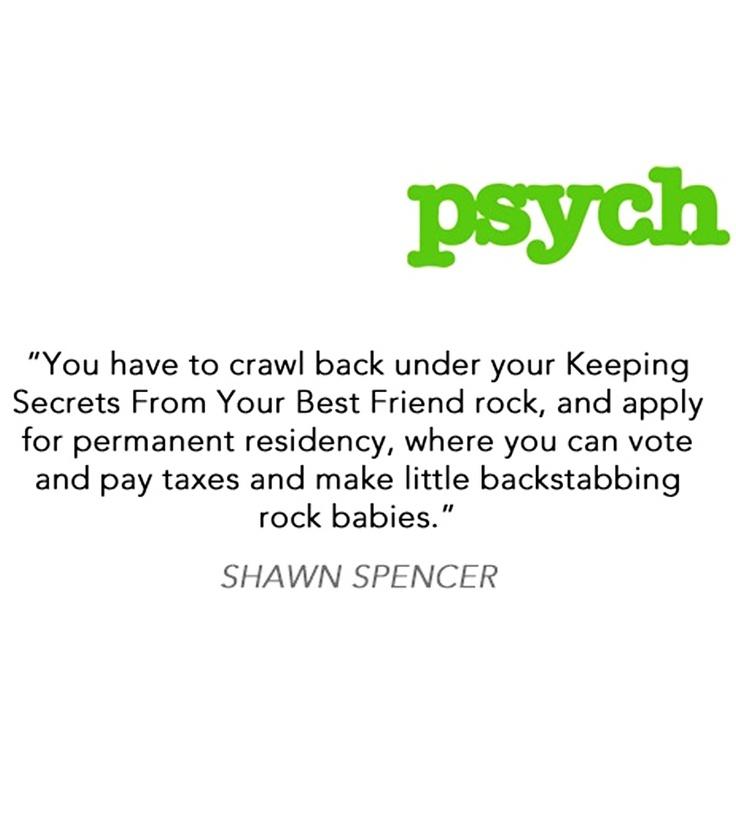 Keeping Secrets from Your Best Friend Rock