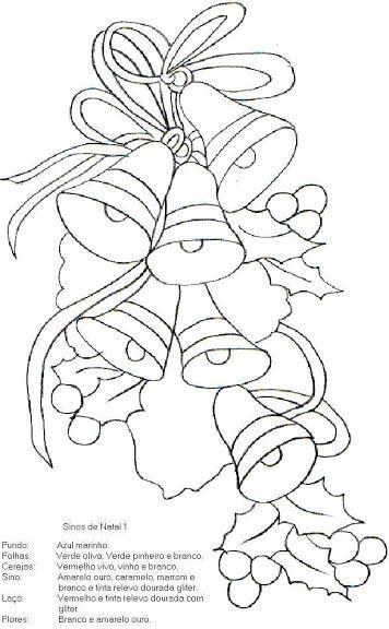 M s de 25 ideas nicas sobre dibujos navide os en - Dibujos navidenos para pintar en tela ...