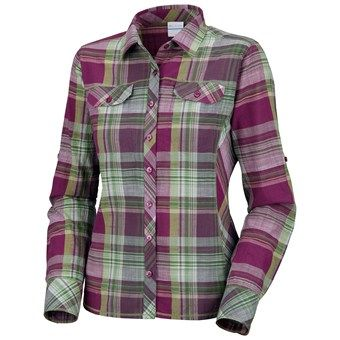 Columbia Sportswear Camp Henry Shirt - Cotton Slub, Long Sleeve (For Women) in Berry Jam