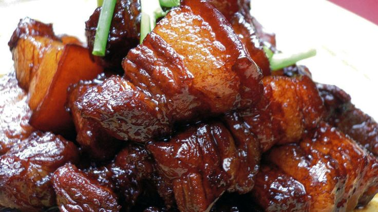 The key to authentic hongshao rou, or red-braised pork, is to use two different types of soy sauce — light and dark.