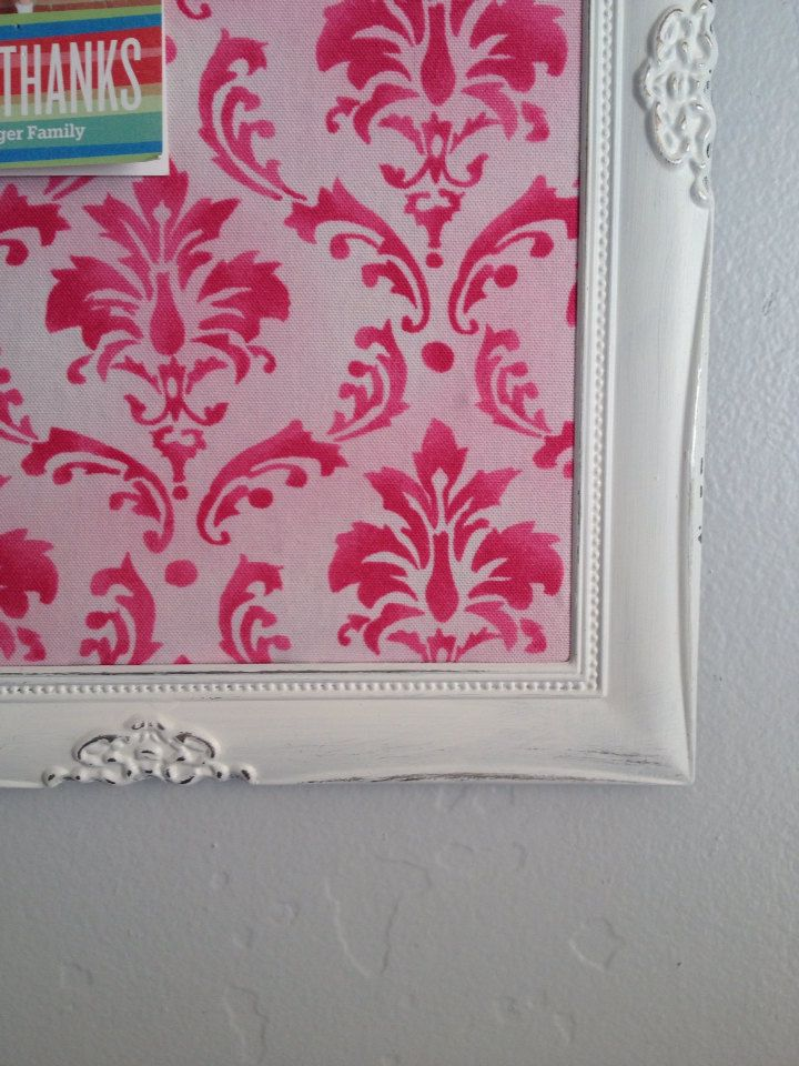 corkboard victorian framed pinboard magnetic bulletin board pink damask gift vision boards