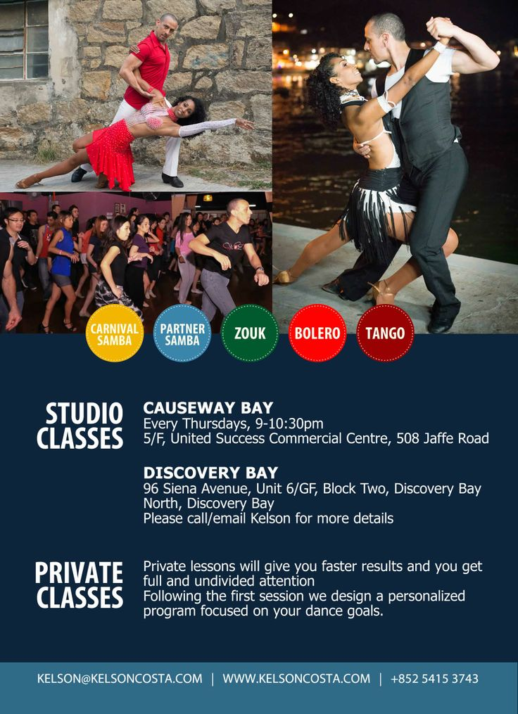 Created by www.ellenchungsk.com | Printed flyer for Kelson Costa (Zouk and Samba dance artist).
