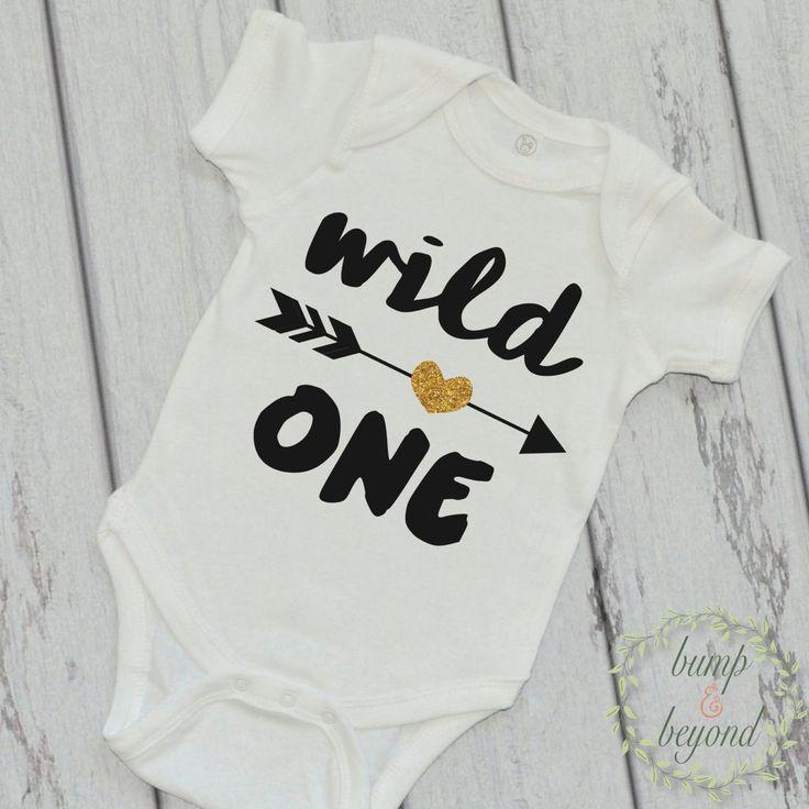 Wild One Shirt Wild One Arrow Shirt Girl Kids Shirt Glitter Arrow Shirt First Birthday Shirt Girl Clothes 048 #arrow_shirt #birthday_shirt #birthday_tshirt