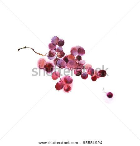 stained blurry grapes