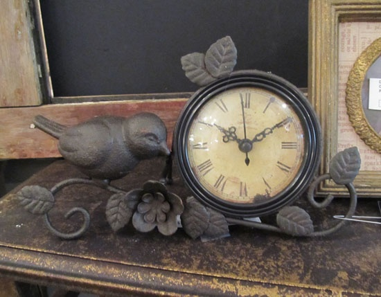 Metal Bird Clock