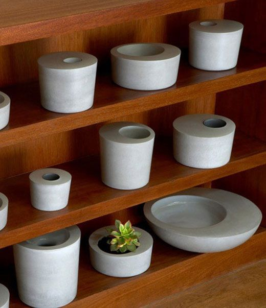 Obleeek Objects cement interior design pots