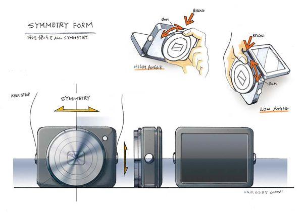 キヤノン PowerShot N のデザイン画