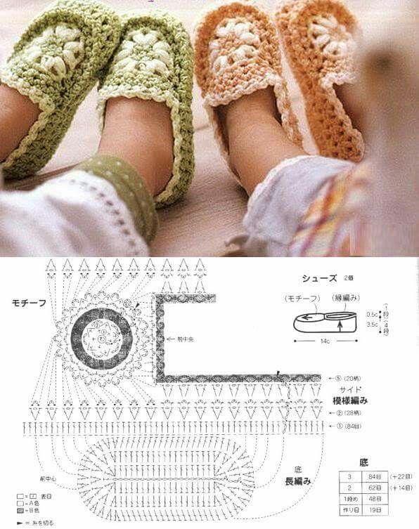 Mejores 105 imágenes de Crochet: Zapatos y calcetines en Pinterest ...