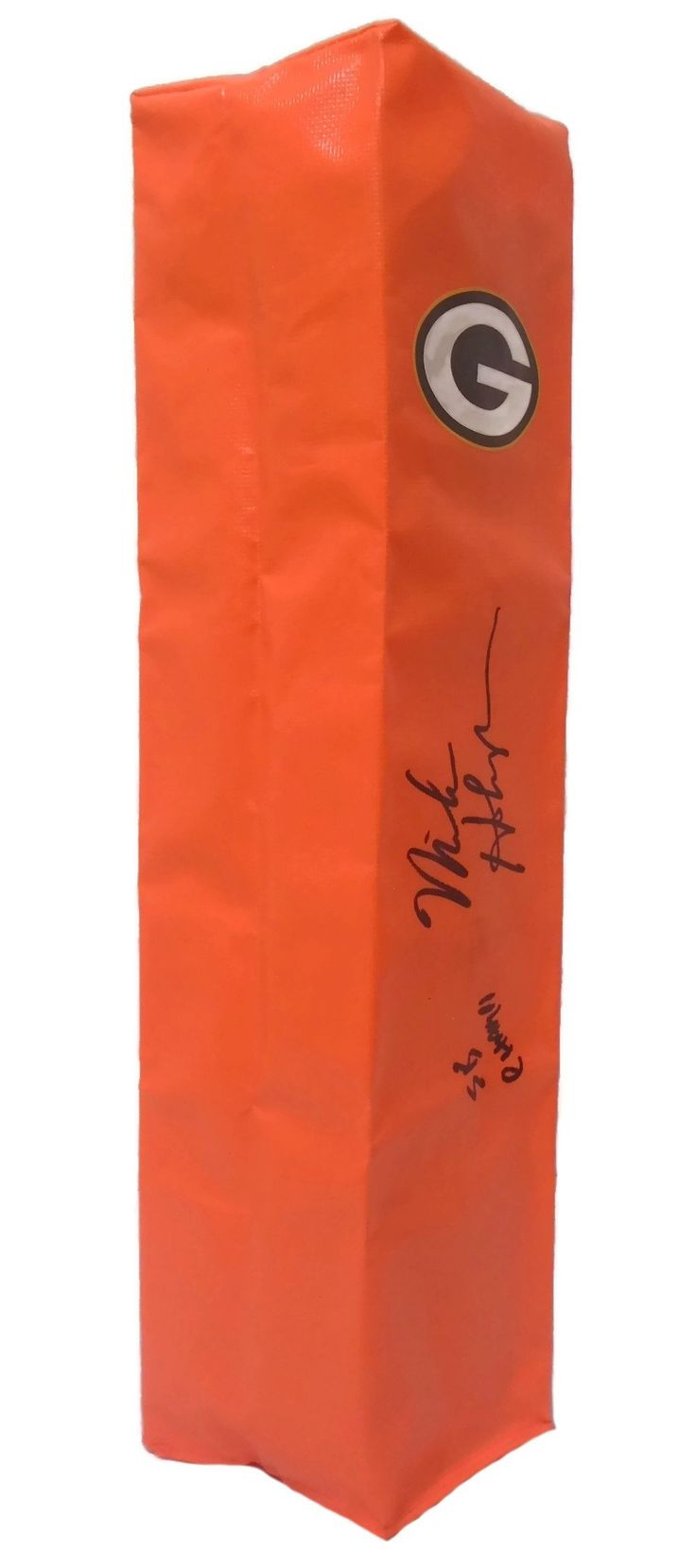 Mike Holmgren Autographed Green Bay Packers Full Size Football End Zone Touchdown Pylon, Proof