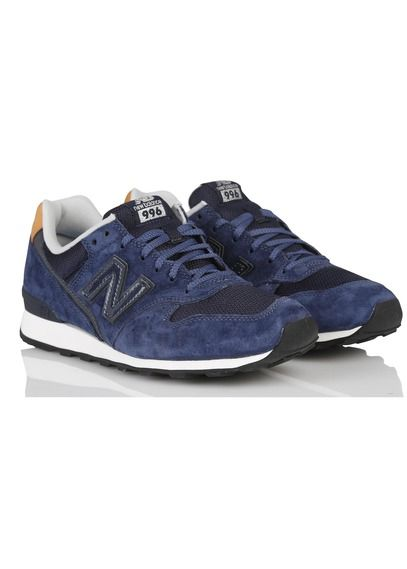 Baskets New Balance 996 en cuir Bleu by NEW BALANCE