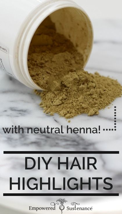 How to use colorless henna to create DIY hair highlights  - it's non-toxic, all natural and cheap #hair #DIY