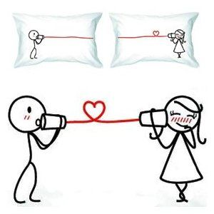 BoldLoft Say I Love You Couple Pillowcases. I want these! :) I'm