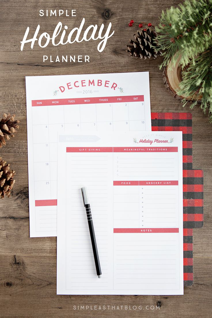 Planning early for the holidays is my secret to a calmer December. Whether it's gift giving, meal planning, or making time for your most meaningful traditions…  Creating the holiday season you really want starts with planning now using this Free Printable Holiday Planner.