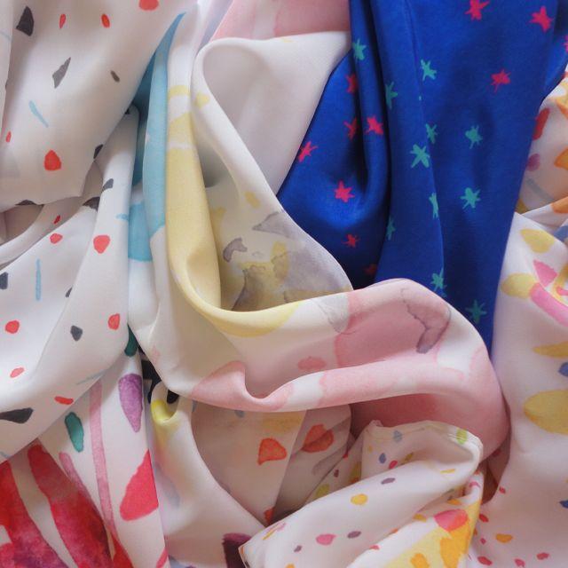 Pañuelos de Seda. Arte: Acuarela LR ©