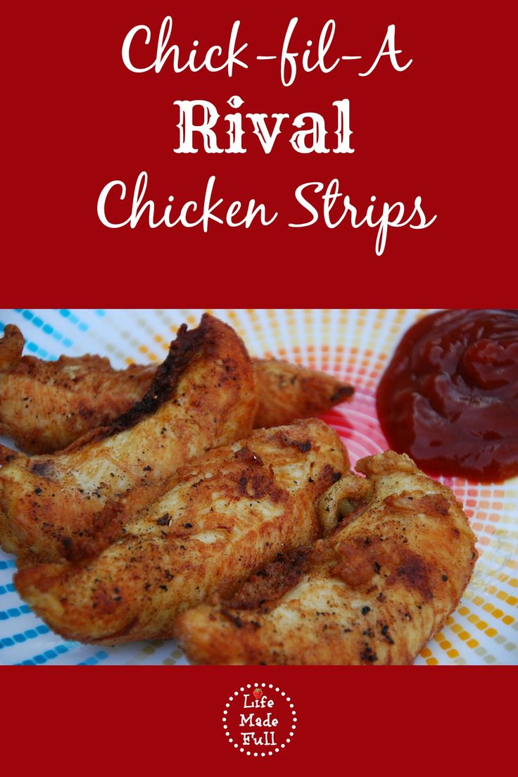 These Chick-fil-A Rival Chicken Strips are AMAZING! A really simple, quick recipe that will leave you wanting more! Oh, and they're healthy, too!