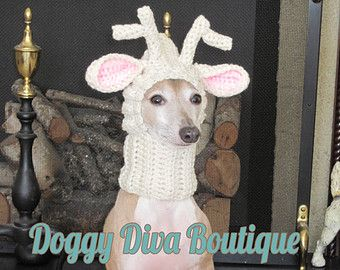 Renna cane cappello / renna Dog Snood / Natale cane di majStyle