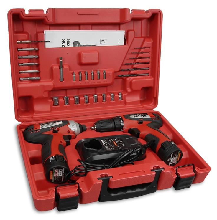 Completo maletín de atornilladores a batería de Litio de Stayer.