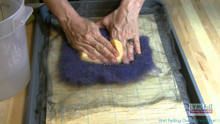 Wet Felting Over a Resist Part 1. Learn to wet felt a vessel, two part video, step by step. A great beginner project for skills building.