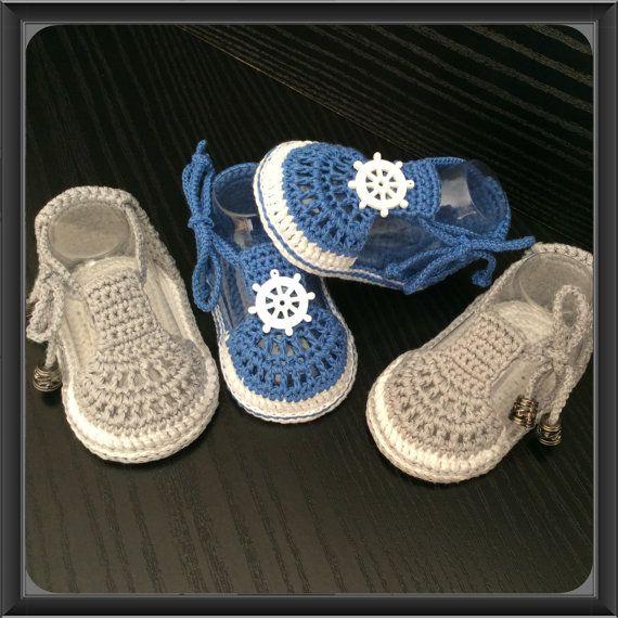 Zapatos de bebé del ganchillo sandalias de por AnnoushkaFashion