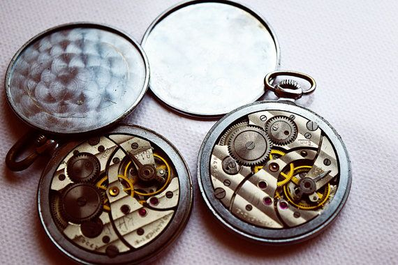 **** BEST DEAL HERE ! ****!!!  2 Russian Vintage pocket watch Molnia BOTH IN WORKING CONDITION!  First one looks impeccable and is a beautifully preserved model. This one alone is worth 60-80$ in other shops. The second one needs Steampunks , but the mechanism is working! Both watches require front glass.   When purchasing a watch always keep in mind who made it ! Price is negotiable , so please message your offers.   !!!**** Please do not hesitate to contact us before purchase ! ****!!!   I…