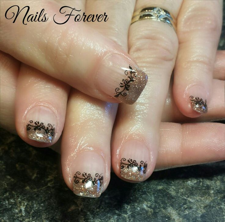 Gel Nails 2016 Chocolate Sparkles