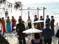 Perfect day for a beach ceremony. Snapper Rocks Gold Coast. Wedding Ceremony Ideas www.breezeweddings.com.au #snapperrocks #snapperrockswedding #coolangattawedding #beachwedding #goldcoastwedding #bambooarbor #bambooarch #bambooweddingarch #breezeweddingsaustralia