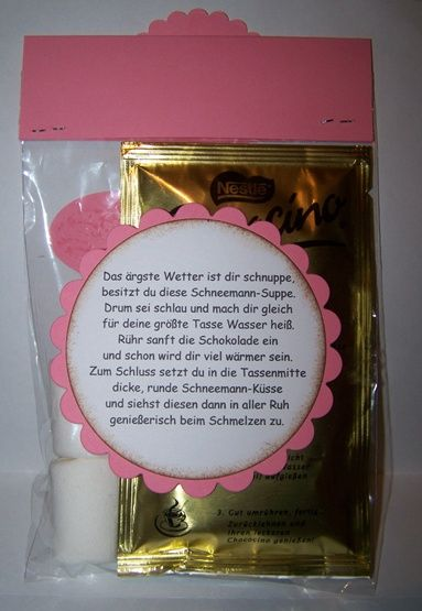Schneemann-Suppe - give away