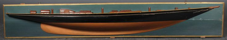 Half hull model of Atlantide (Knuthenborg)