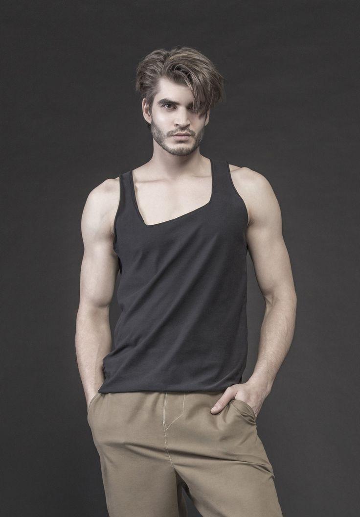 Men's black vest #PANTHEIST #CAVEINcollection #menswear pantheist.co