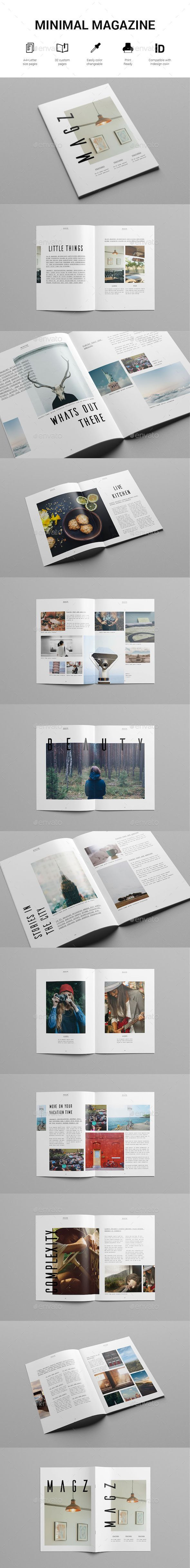 Minimal Lifestyle Magazine Template #8.27x11.69 #a4 #clean #modern #cs4 #indesign