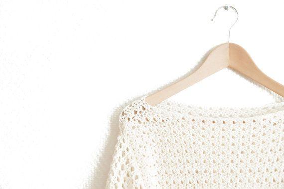 CROCHET PATTERN  DIY  sweater woman's  easy short by joyofmotion