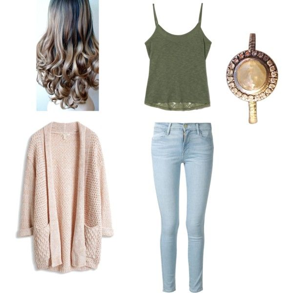 Earthy by gracerankcom on Polyvore featuring polyvore fashion style Frame Denim Barneys New York