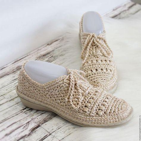 Обувь ручной работы. Ярмарка Мастеров - ручная работа. Купить Мокасины вязаные silk Shine. Handmade. Серый, сменная обувь