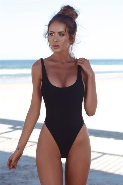 d40b43310d819 Ariel Sarah Brand 2018 Solid Bikini Swimsuit Hot Swimwear Women Swimming  Suit Halter Bikinis Set Bathing Suit Monokini