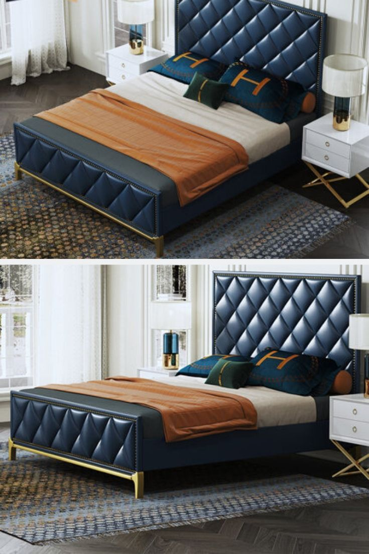 Luxury Bedroom Furniture Leather Bedroom In 2020