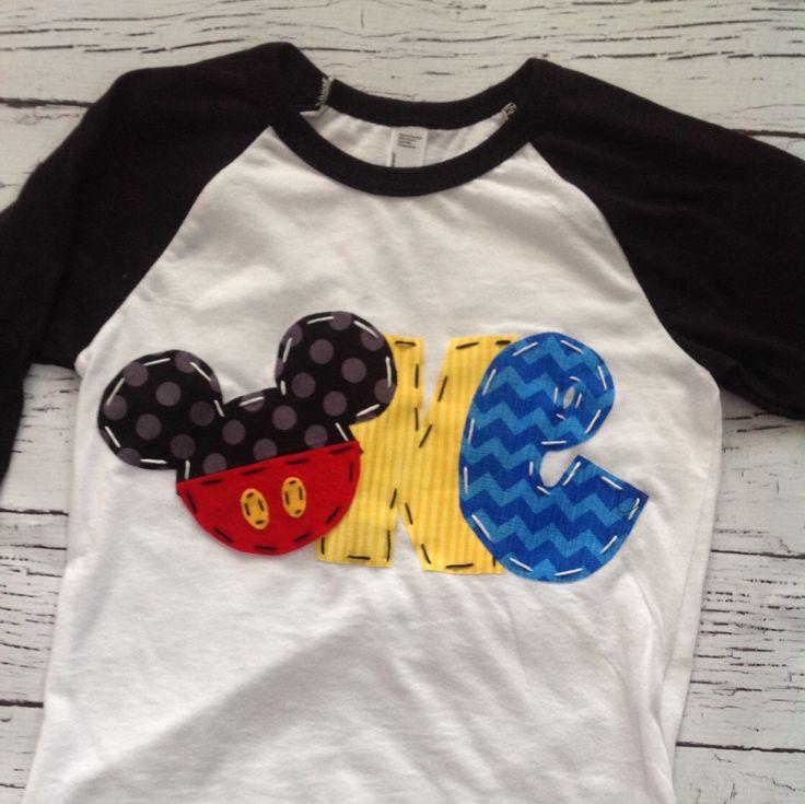 Mickey mouse birthday shirt, one, 1st, girl boy t shirt, by CodyandKait on Etsy https://www.etsy.com/listing/267999339/mickey-mouse-birthday-shirt-one-1st-girl