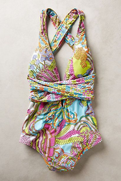 Love this Trina Turk suit! Now I just need somewhere tropical to wear it...
