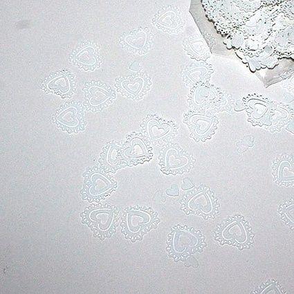 Konfettihjerter – Hvid
