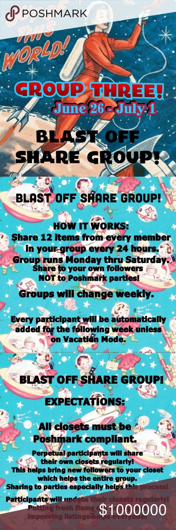 🚀GROUP THREE BLAST OFF🚀 Let's support each other and make some sales! 💰 This is a no drama zone! 🚫 Boutique Accessories