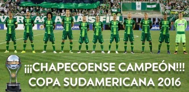 Conmebol declara Chapecoense campeã da Copa Sul-Americana de 2016