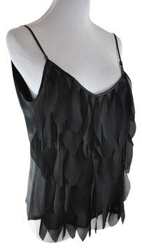 Anne Fontaine Sheer Spagetti Strap Fits Like M/l Top Black. Get the lowest price in town on this Anne Fontaine Sheer tank top in Black and other colors too! Tradesy makes designer fashion affordable and fun. Shop now