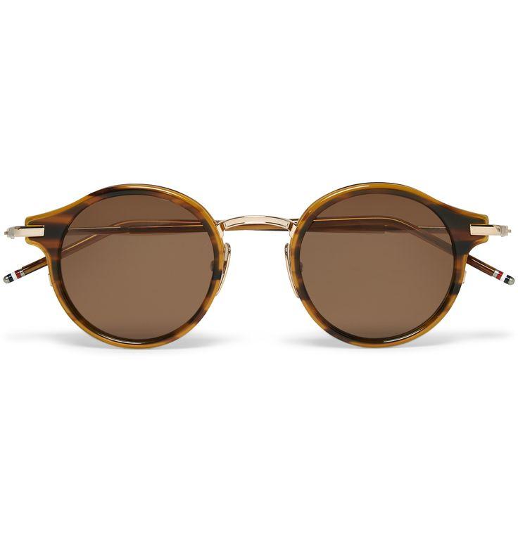Thom Browne - Round-Frame Tortoiseshell Acetate and Gold-Tone Sunglasses