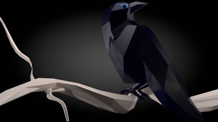 Third Low Poly Art Pubg: LowPoly Raven Render Made In C4D