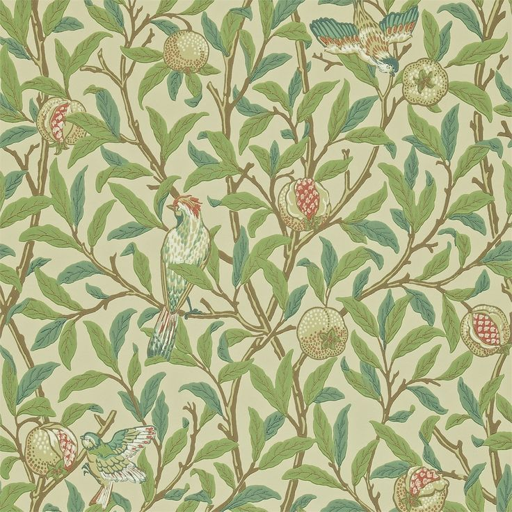 The Original Morris & Co - William Morris & Company | Bird & Pomegranate wallpaper